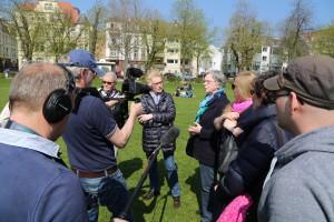 Fragen zur alltäglichen Bewegung auf der Neckarwiese