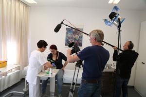 Das tsm Team filmt die Vorsorgeuntersuchung